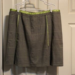 Black and white and green skirt